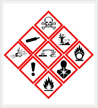 Globally Harmonized Pictograms for chemical hazards